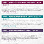 Purina Fancy Feast Grilled Poultry &Amp; Beef Collection Wet Cat Food Variety Pack - (24) 3 Oz. Cans