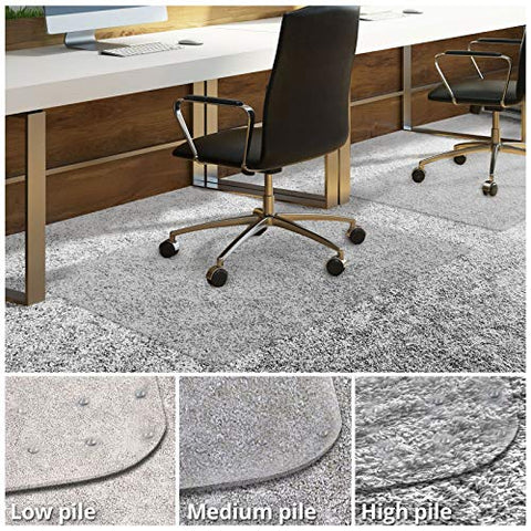 Office Chair Mat For Carpeted Floors | Desk Chair Mat For Carpet Pile 0.19  High | Clear Pvc Mat In Different Thicknesses And Sizes For Every Pile Type | High-Pile 40 X48
