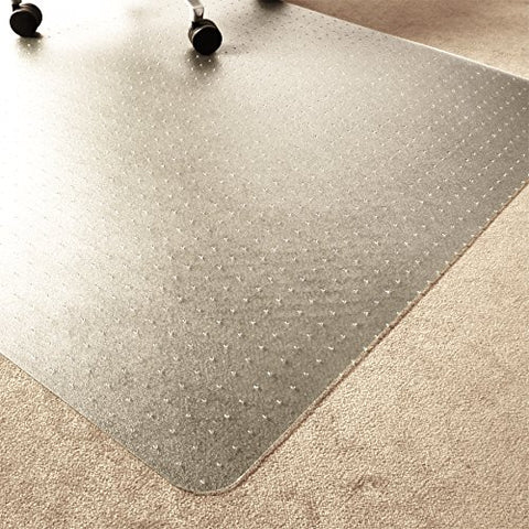 Marvelux 48  X 60  Eco (Enhanced Polymer) Rectangular Chair Mat For Low And Standard Pile Carpets | Transparent Carpet Protector | Multiple Sizes