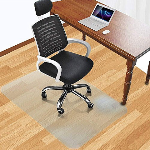 Office Desk Chair Mat For Hard Wood Floor Thick Pvc Matte 48  X 36 ,Transparent Sturdy Chair Mat