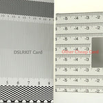 Dslrkit Lens Focus Calibration Tool Alignment Ruler Folding Card