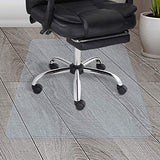 Yescom Office Chair Mat For Hard Wood Floors Clear Rectangle Pvc Floor Mat Protector With Lip 1.5Mm Thickness 48  X 36