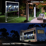 Jaeilplm Portable Projector Screen, Indoor Outdoor Compatible With Rectangle Stand For Home Theater, Gaming, Office (2 In 1)