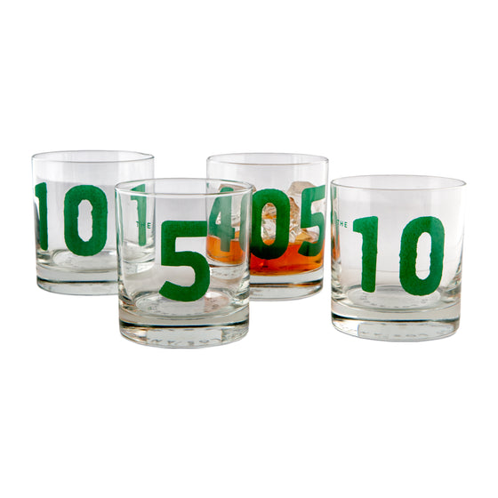 LA Freeways 4PC Glassware Set: 101, 405, 10, 5