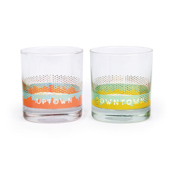 Uptown Downtown Rocks Glasses (Set of 2)