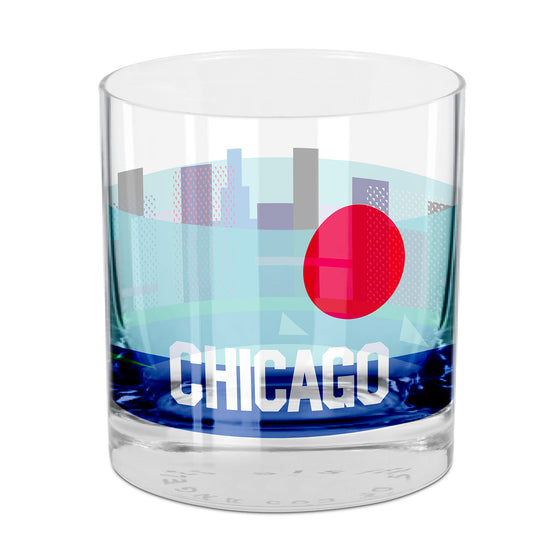 People, Places & Things Chicago-inspired rocks glass