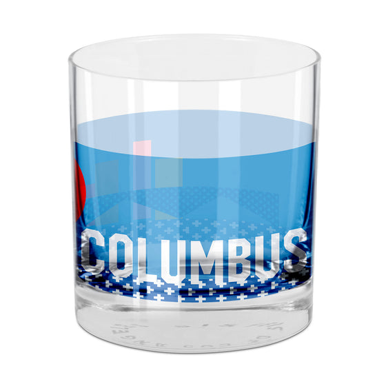People, Places & Things Columbus-inspired rocks glass
