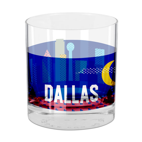 Dallas Rocks Glass