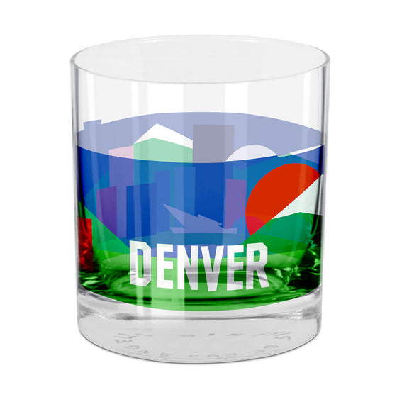 People, Places & Things Denver-inspired rocks glass