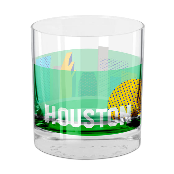 People, Places & Things Houston-inspired rocks glass