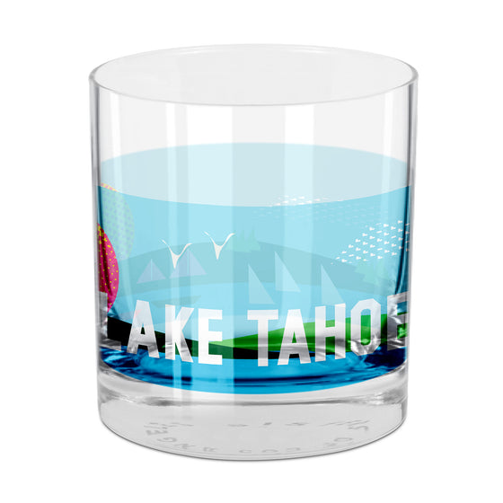 People, Places & Things Lake Tahoe-inspired rocks glass