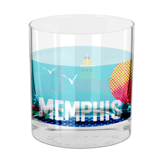 People, Places & Things Memphis-inspired rocks glass