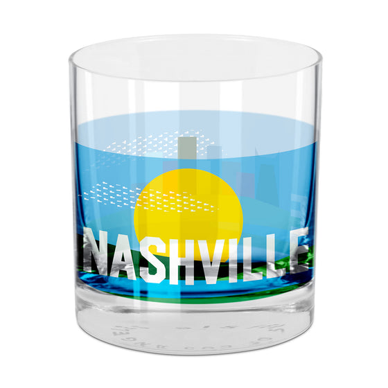 People, Places & Things Nashville-inspired rocks glass