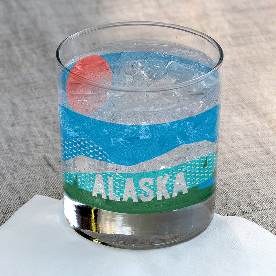 Alaska Rocks Glass