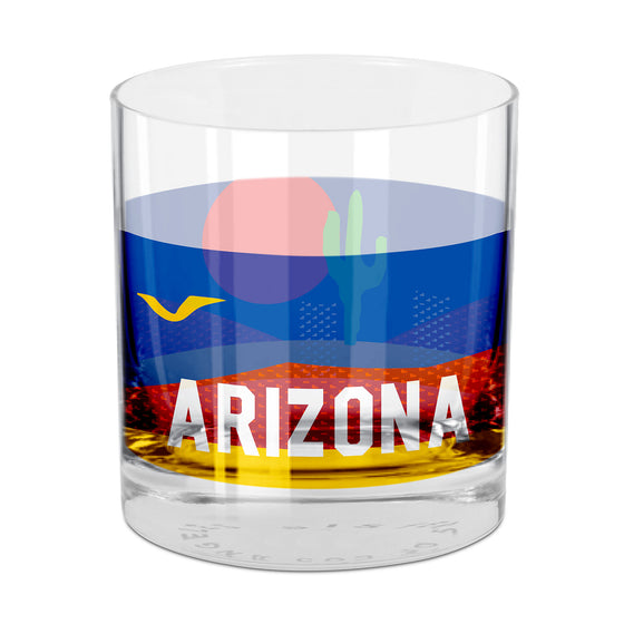 People, Places & Things Arizona-inspired rocks glass
