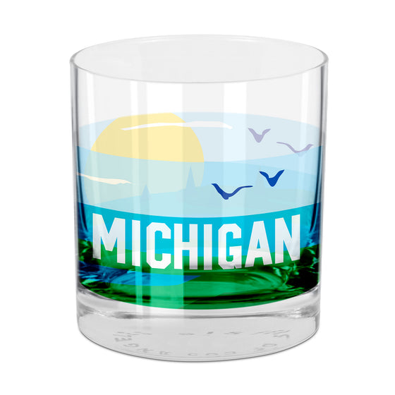 People, Places & Things Michigan-inspired rocks glass