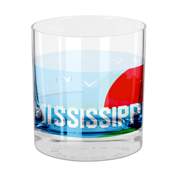 People, Places & Things Mississippi-inspired rocks glass