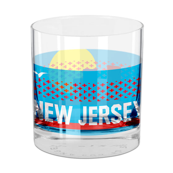 People, Places & Things New Jersey-inspired rocks glass