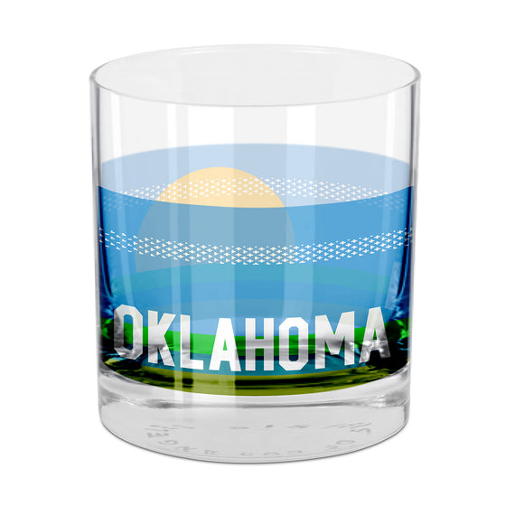People, Places & Things Oklahoma-inspired rocks glass