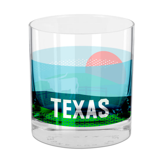 People, Places & Things Texas-inspired rocks glass