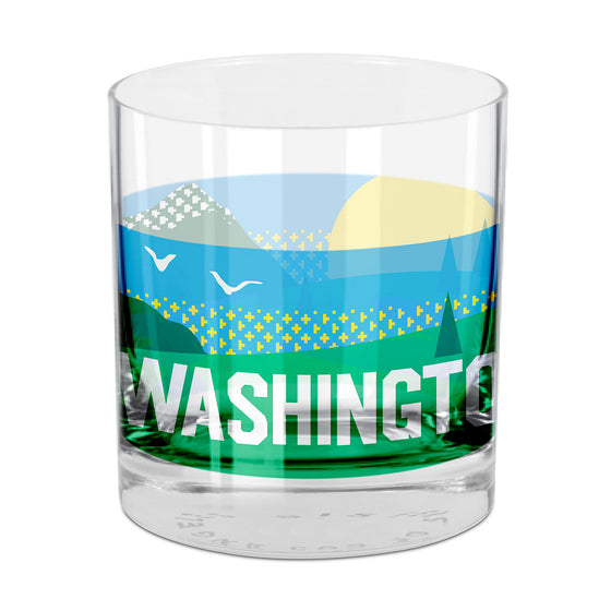 People, Places & Things Washington-inspired rocks glass