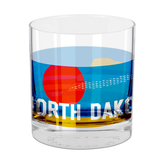 North Dakota Rocks Glass