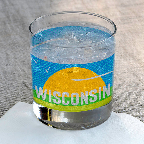Wisconsin Rocks Glass