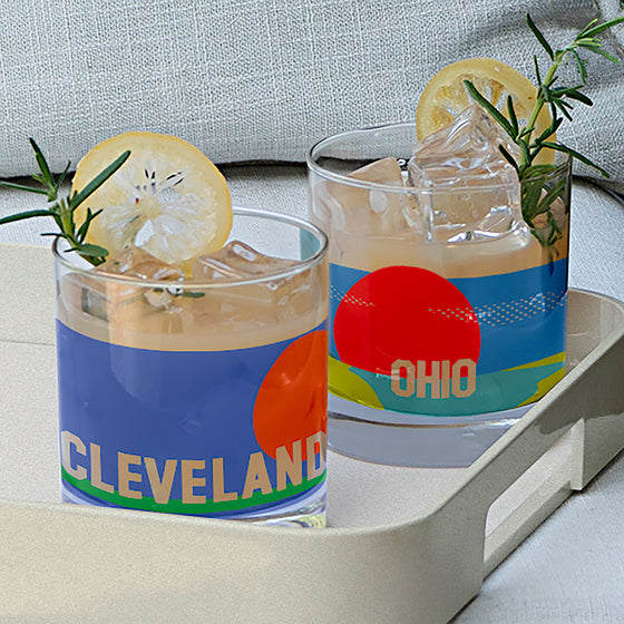Cleveland Rocks Glass