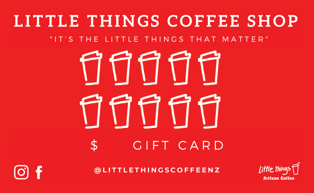 Prepaid Coffee Card - Little Things Coffee Shop
