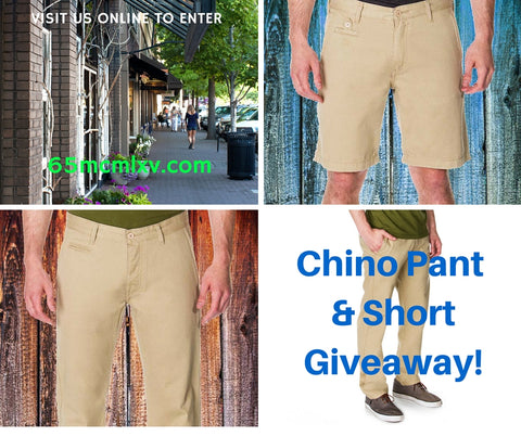 65 MCMLXV Chino Pant & Short Giveaway