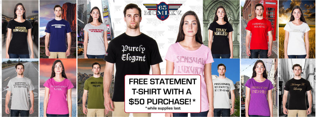 65 MCMLXV Free Statement Tee Offer