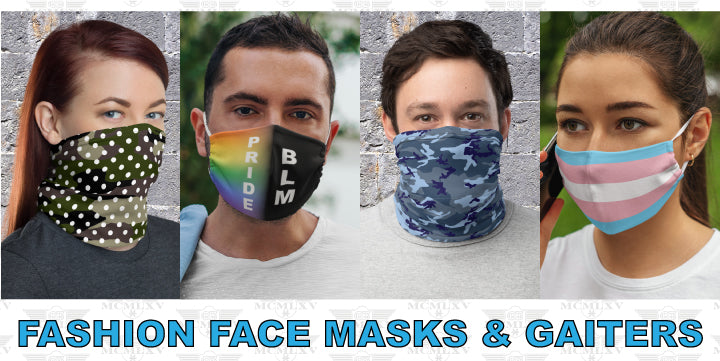 65 MCMLXV Fashion Face Masks & Neck Gaiters
