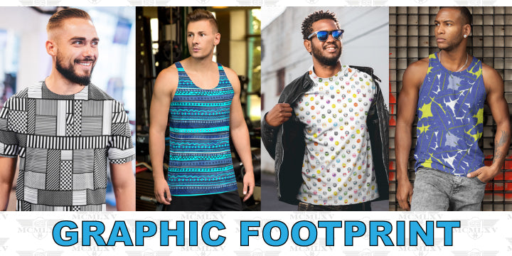65 MCMLXV Men's Printed Tanks & Tops