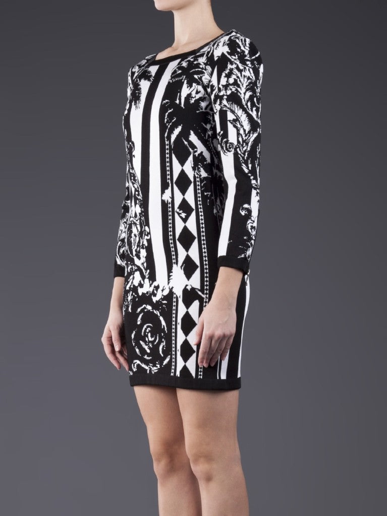 Balmain feather print dress