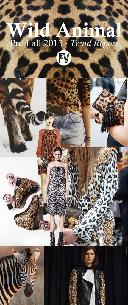 Fashion Vignette Wild Animal Pre-Fall 2013