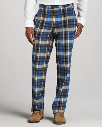 Peter Millar Everton Washed Plaid Pants