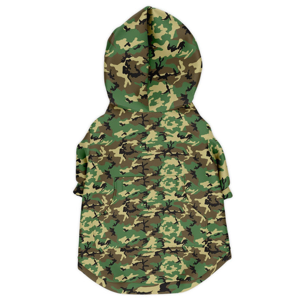 65 MCMLXV Military Camouflage Dog Zip Hoodie-Athletic Dog Zip-Up Hoodie - AOP-65mcmlxv
