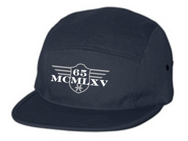 Cap - 65 MCMLXV 2 Color Logo 100% Cotton 5 Panel Embroidered Cap