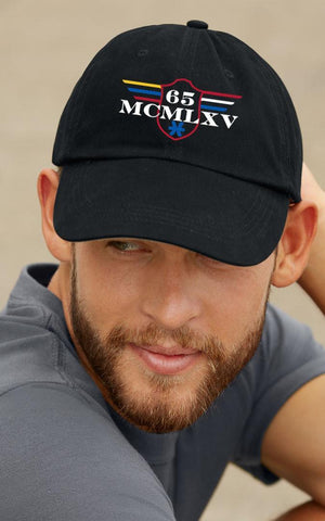 Cap - 65 MCMLXV Classic Logo 100% Cotton 5 Panel Embroidered Cap