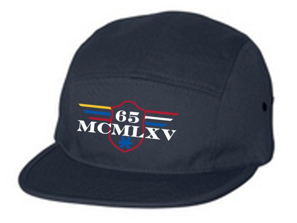 65 MCMLXV Classic Logo 100% Cotton 5 Panel Embroidered Cap-Cap-65mcmlxv