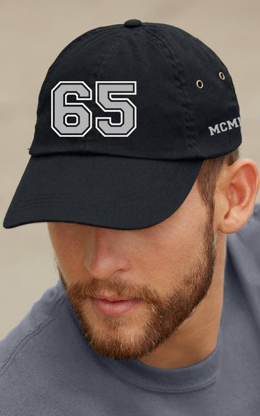 Cap - 65 MCMLXV Varsity 65 Logo 6 Panel 3-D Puff Embroidered Cap