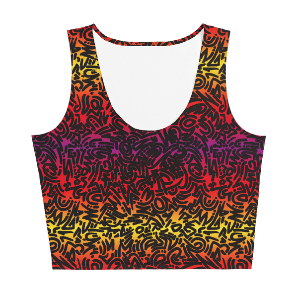 65 MCMLXV Women's Gradient Squiggles Print Crop Top-Crop Top-65mcmlxv