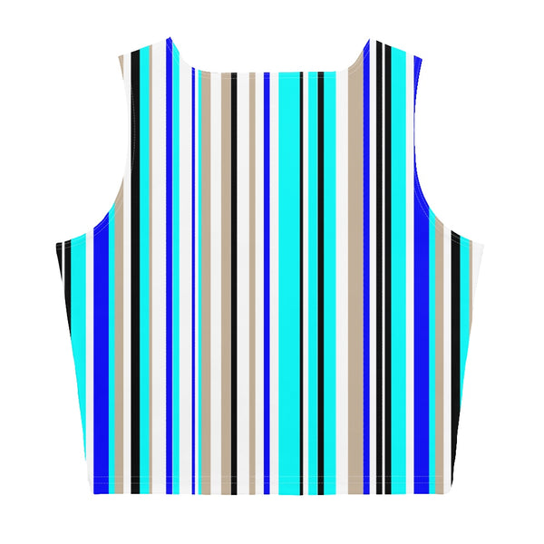 65 MCMLXV Women's Vertical Stripe Print Crop Top-Crop Top-65mcmlxv