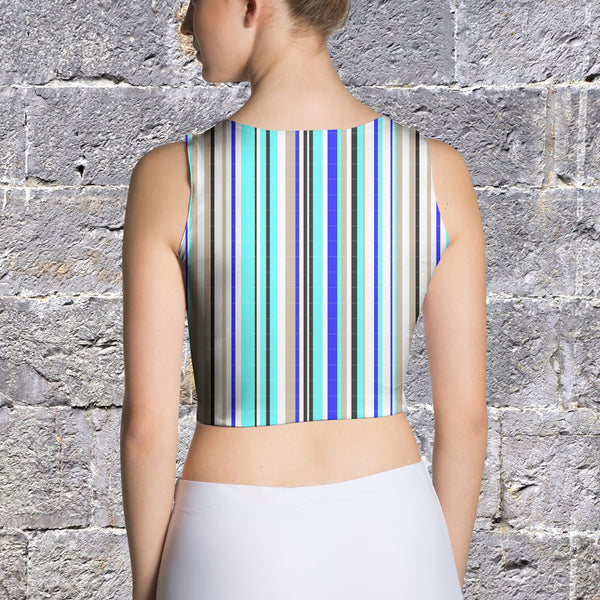 Crop Top - Women's Vertical Stripe Crop Top