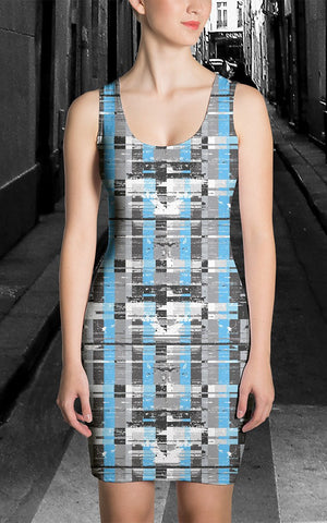 Dress - Women's Fractured Stripe Dress