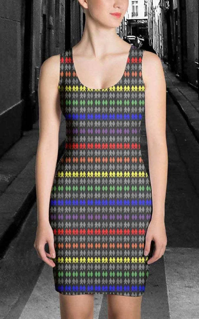 65 MCMLXV Women's LGBT Pride Icons Stripe Print Dress-Dress-65mcmlxv
