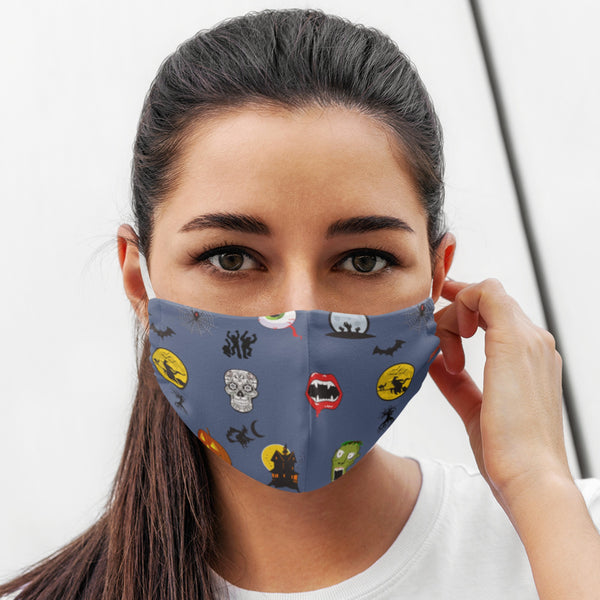 65 MCMLXV Unisex Halloween Icons Print Face Mask-Fashion Face Mask - AOP-65mcmlxv
