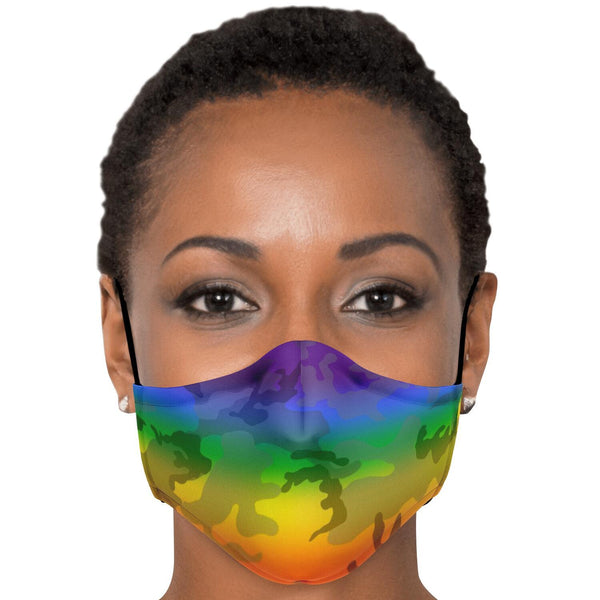 65 MCMLXV LGBT Pride Camo Unisex Face Mask-Fashion Face Mask - AOP-65mcmlxv
