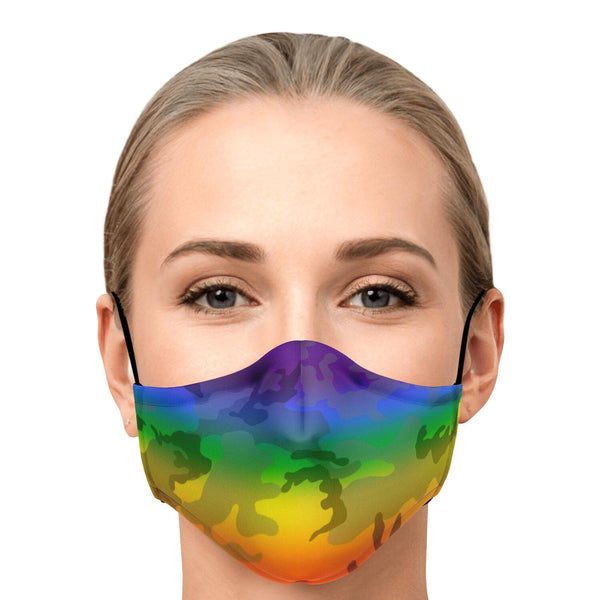 65 MCMLXV Unisex LGBT Pride Camo Print Face Mask-Fashion Face Mask - AOP-65mcmlxv