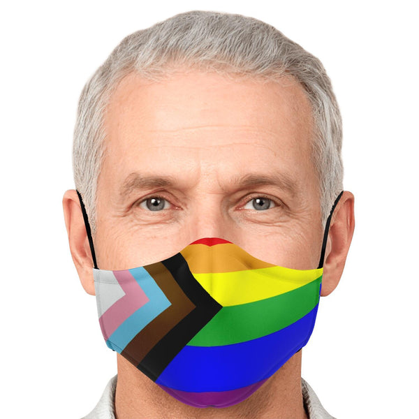 65 MCMLXV Unisex LGBTQIA+ Pride Flag Print Face Mask-Fashion Face Mask - AOP-65mcmlxv